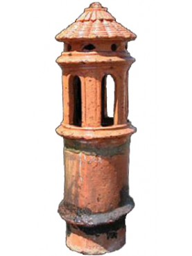 Tuscan chimney pot Øint.18cms with 6 slots