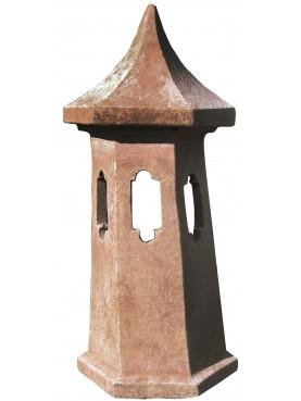 Small terracotta chimney pot Øint.15cms
