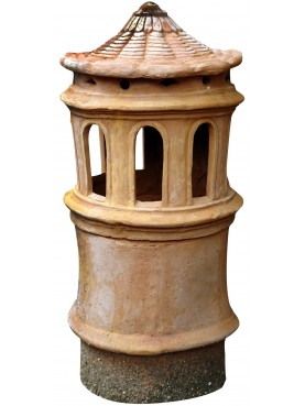 ancient Chimney pot with 8 slots - terracotta