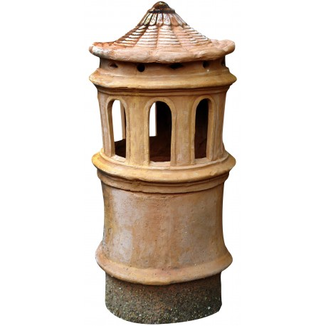 ancient Chimney pot Øint.25cms with 8 slots - terracotta