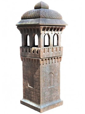 Square CHIMNEY POT from North Italy