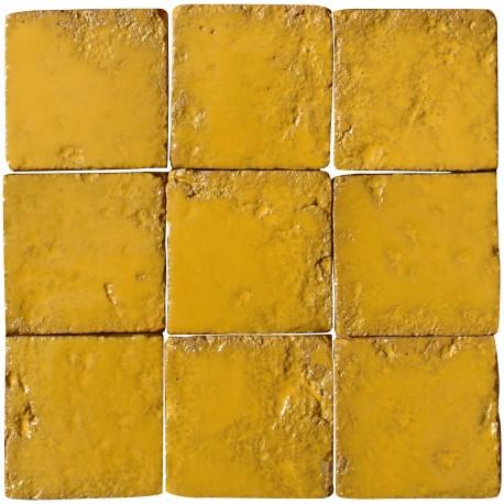Hand-made Morocco Tile Saffron color