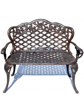 Cast iron roses small Bench