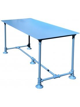 Tavolo rettangolare 138,5cm tubo idraulico in ferro