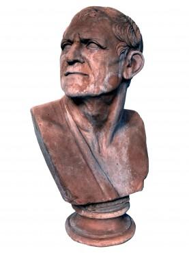 Lisimaco, busto in terracotta di epoca Augustea - nostra copia