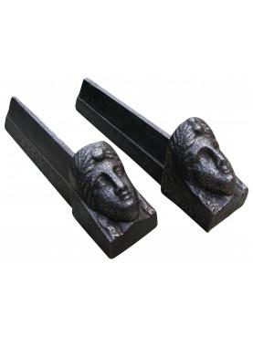 Ancien cast iron andirons