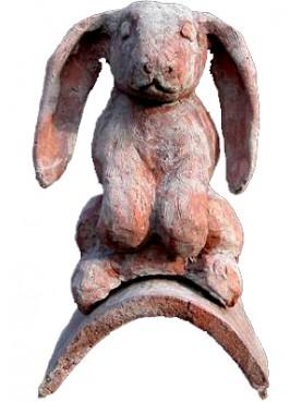 Tegola antica con coniglio