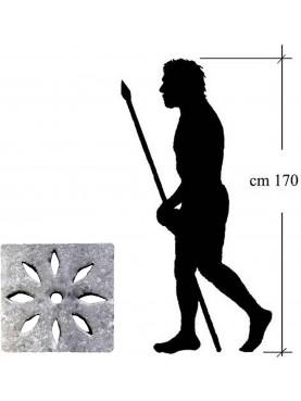 70x70cm Tombino carrabile a mandorle in pietra serena spessore 10 cm