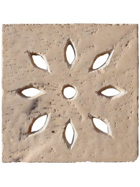 50x50cms Manhole cover with almond holes - limestone