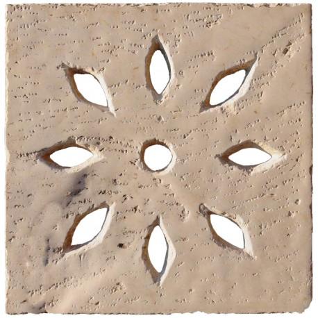 50x50cms Manhole cover with almond holes - limestone
