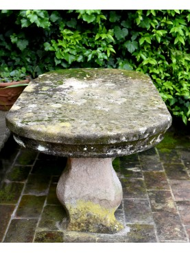Small garden oval stone table - our production