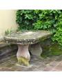 Piccolo tavolo da giardino ovale in pietra di nostra produzione