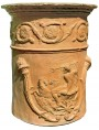 Cylindrical ornamental vase, copy of a Roman vase of the first century AD