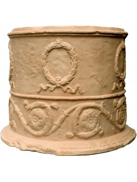 Festooned Roman vase - cylindrical, copy of a Roman vase from the 1st century AD
