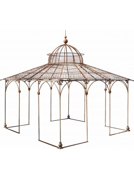 Wrought iron gazebo hand-made for Maison Gucci in Milan