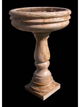 Fountaine Stoup in royal yellow marble (giallo reale)