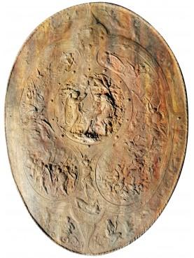 Scudo in terracotta da un calco di un manufatto di Benvenuto Cellini