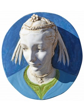 Portrait of a young girl (Andrea della Robbia) - majolica copy