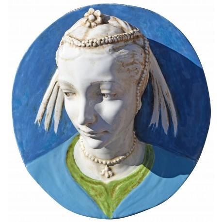 Portrait of a young girl (Andrea della Robbia) - majolica copy