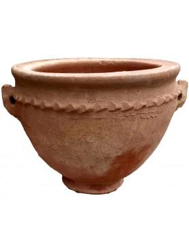 Saharian round flowerpot H.30cms