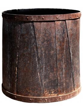 Contenitori in ferro cilindrici per alberi