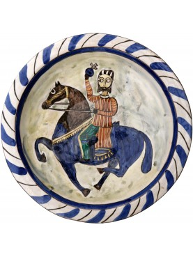 Copy of an ancient medieval Tuscan dish - Templar Knight of the First Crusade (1096-1099)