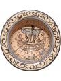Pisan ancient ceramic basins - fish and medieval ship