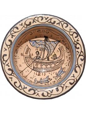 Bacini ceramici medioevali pisani - pesci e nave medievale