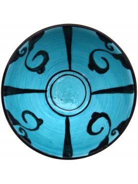 Copy of an ancient medieval Tuscan blue dish