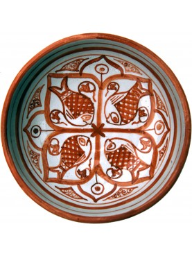 Copy of an ancient medieval four fishes dish