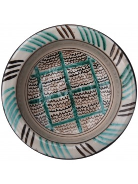 Copy of an ancient medieval Tuscan dish - geometric patterns