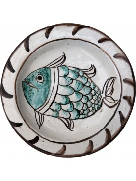 Copy of an ancient medieval dish - vegetable motif