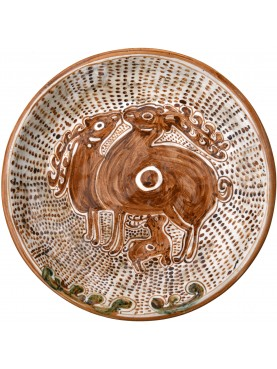 Copy of an ancient medieval dish - two deer