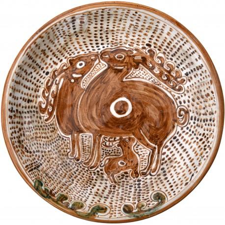 Bacini ceramici medioevali pisani - due cervi