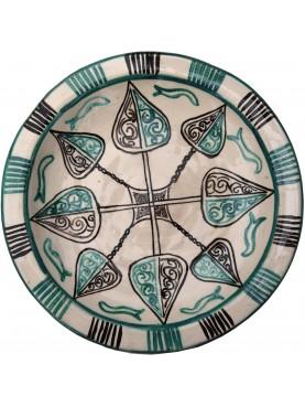 Bacini ceramici medioevali pisani - motivo vegetale