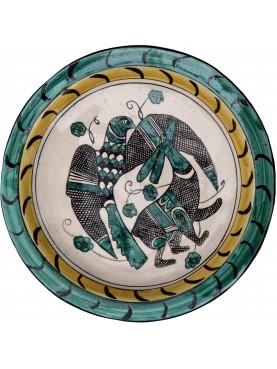 Bacini ceramici medioevali pisani - caccia col falcone