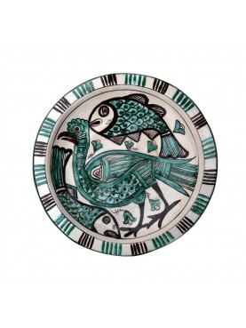 Copy of an ancient medieval Tuscan dish - bird and fishes