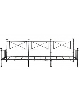 Large forged iron divan 220 cm