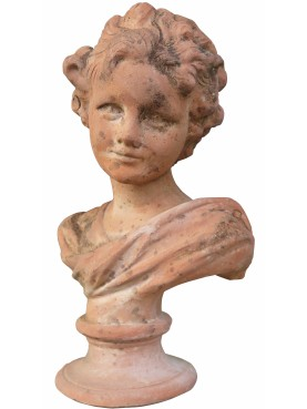 Child small french bust terracotta with round base