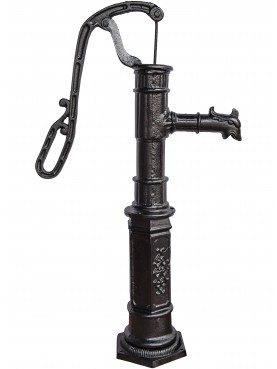 Stand pipe with hand pump in cast-iron