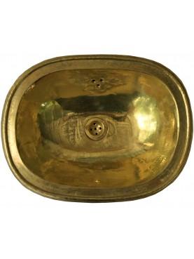 Lavandino ovale in ottone 42x32 cm fatto a mano