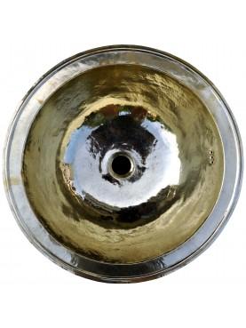Round brass sink Ø 38 cm