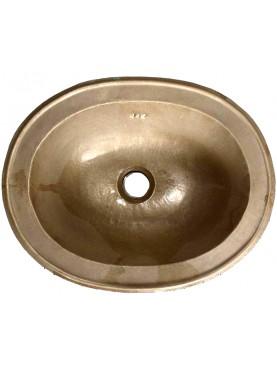 Oval brass sink