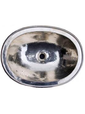Lavandino ovale 56x42 cm in Metal Blank