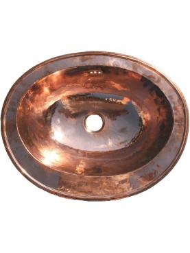 Lavandino ovale in Rame 56x42 cm