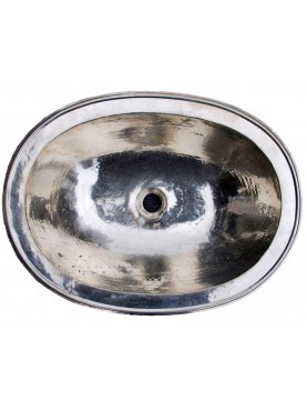 Lavandino ovale 42x32 cm Metal Blank