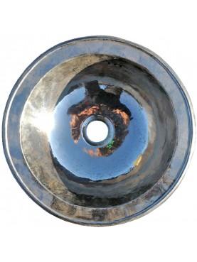 Lavandino rotondo Ø 50 cm in Rame Metal Blanc