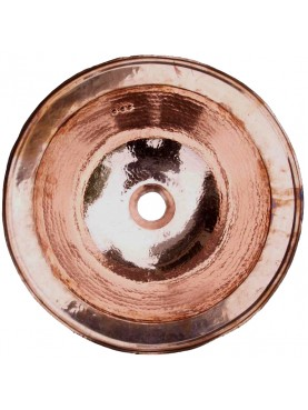 Lavandino tondo in rame Ø 38 cm