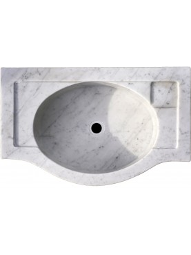 Lavandino in marmo bianco Carrara di nostra produzione