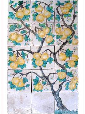Qunice-peas tree maiolica Panel